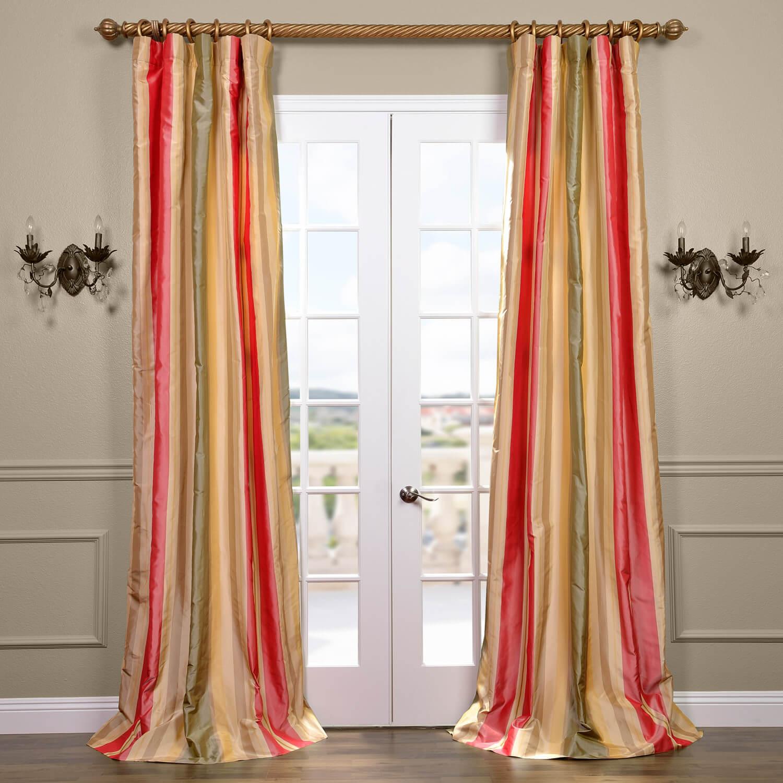 Bellevue Silk Taffeta Stripe Curtain