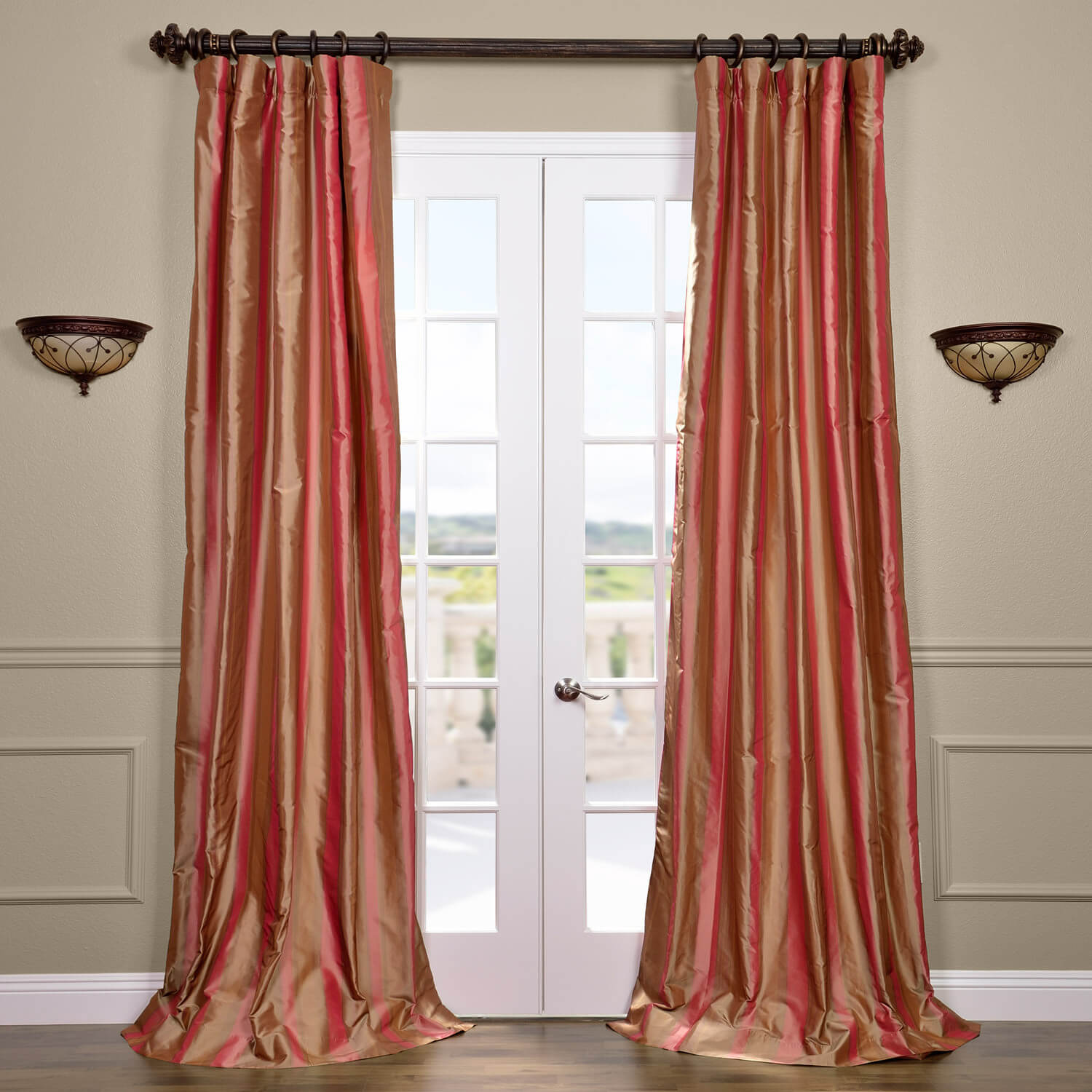 Hawthorne Silk Stripe Curtain