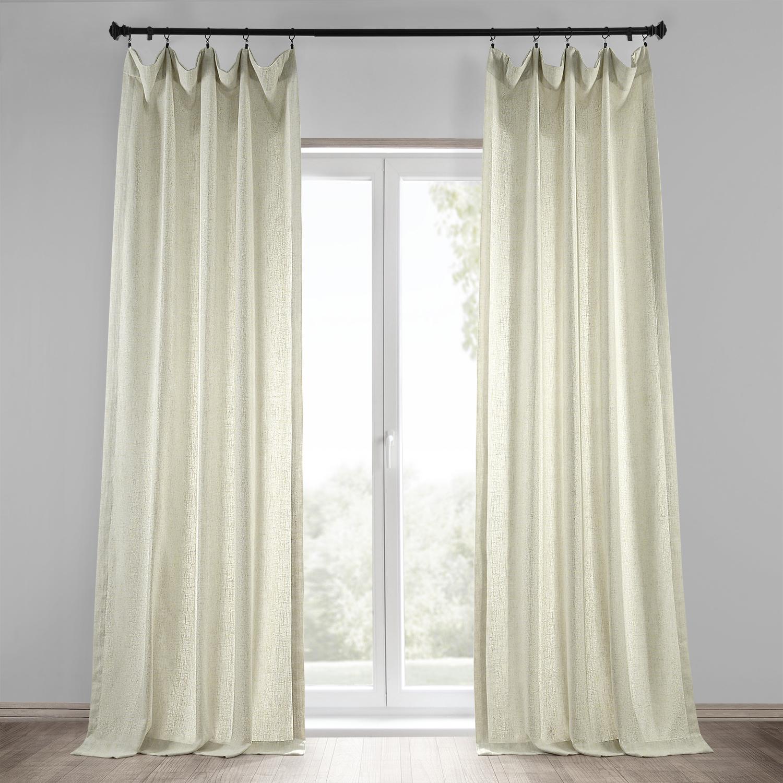 Barley Heavy Faux Linen Curtain