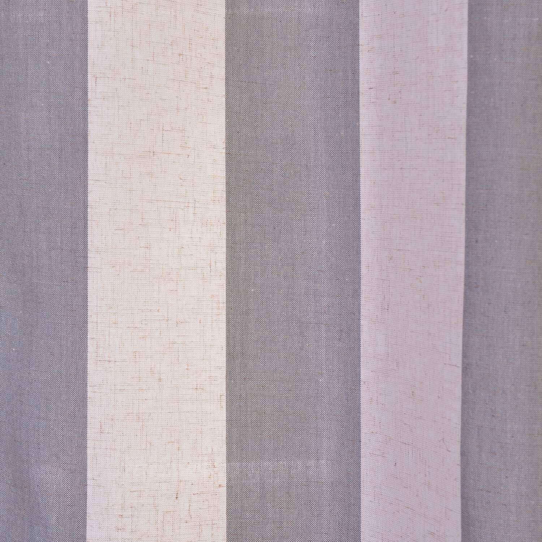 Bermuda Gray Linen Blend Stripe Swatch