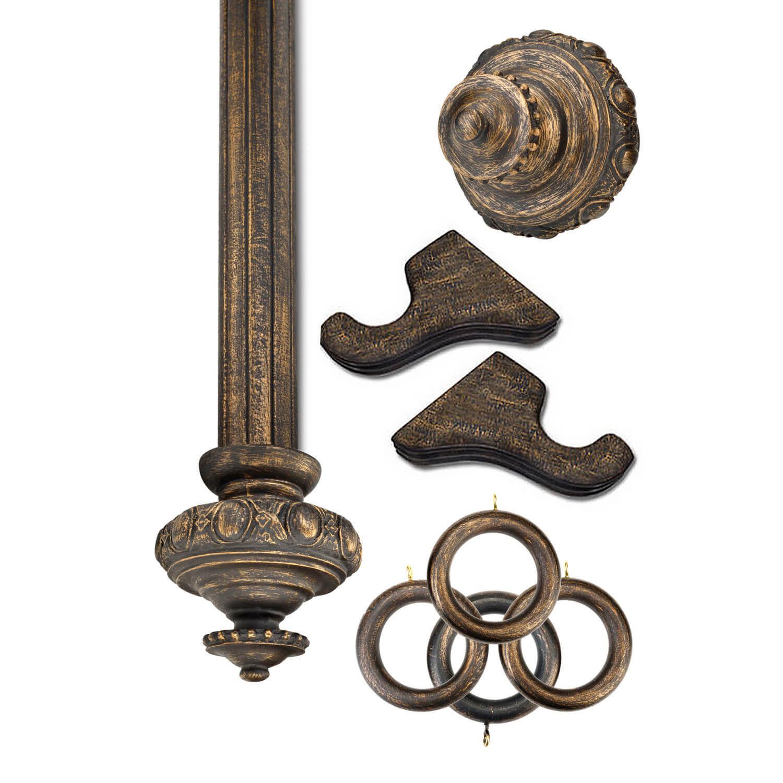 Sussex Antique Bronze Prepacked Wooden Rod Set