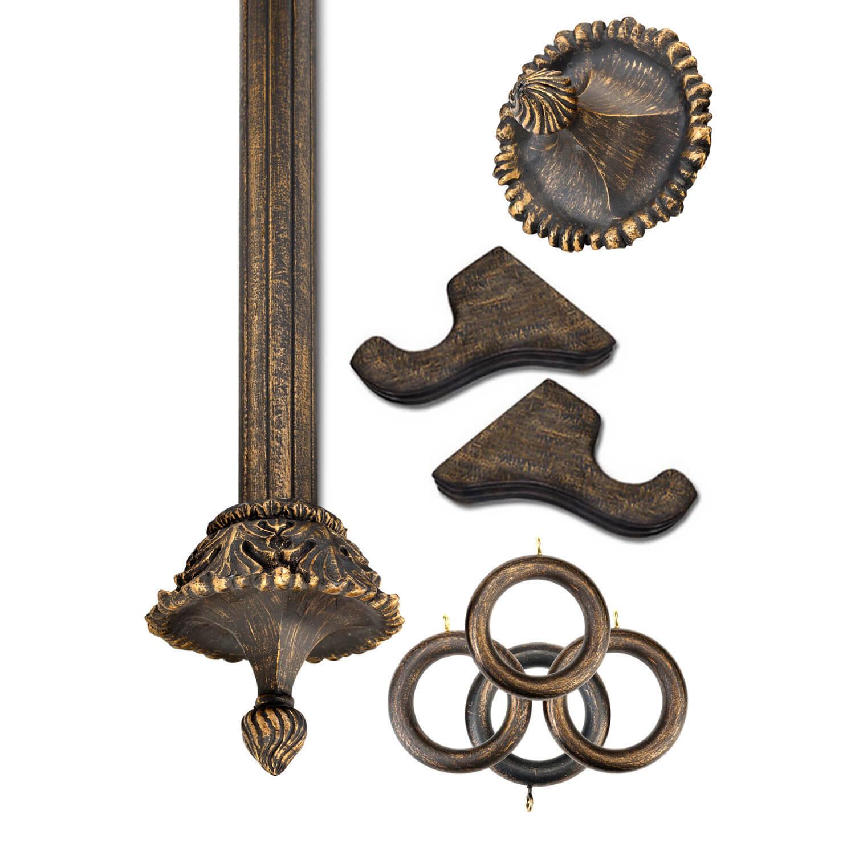 Devonshire Antique Bronze Prepacked Wooden Rod Set