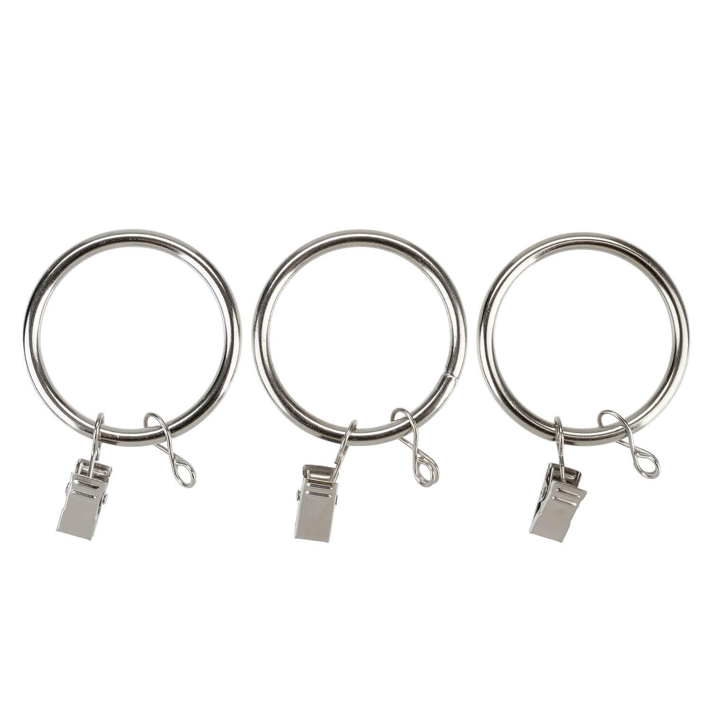Metal Curtain Rings For 1 1/2 Diameter Metal Curtain Rods - PKG of 14