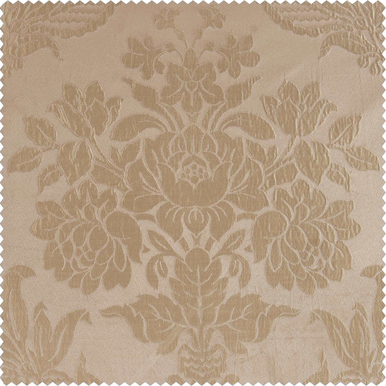 Magdelena Beige & Gold Faux Silk Jacquard Swatch