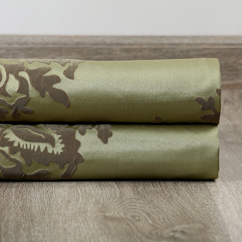 Magdelena Mantis Green Faux Silk Jacquard Swatch