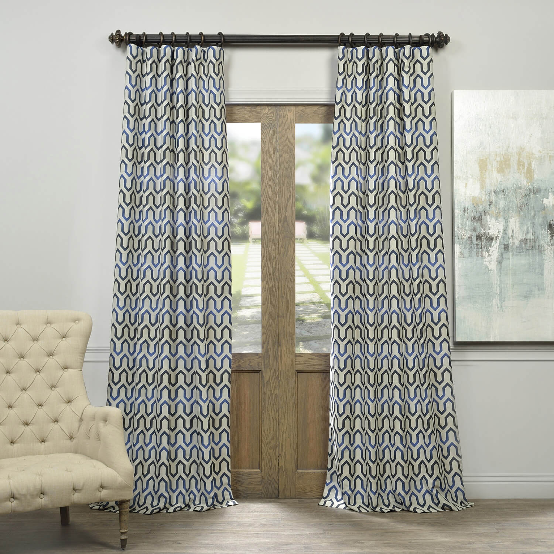 Royal Summit Faux Silk Jacquard Curtain