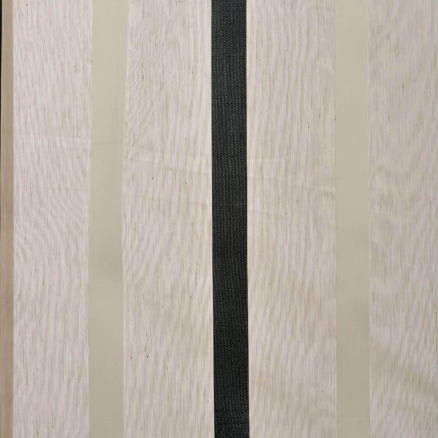Carlton Natural Linen Blend Stripe Sheer Swatch