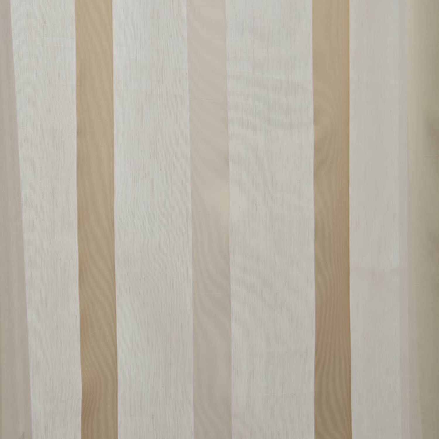 Carlton Creme Linen Blend Stripe Sheer Swatch