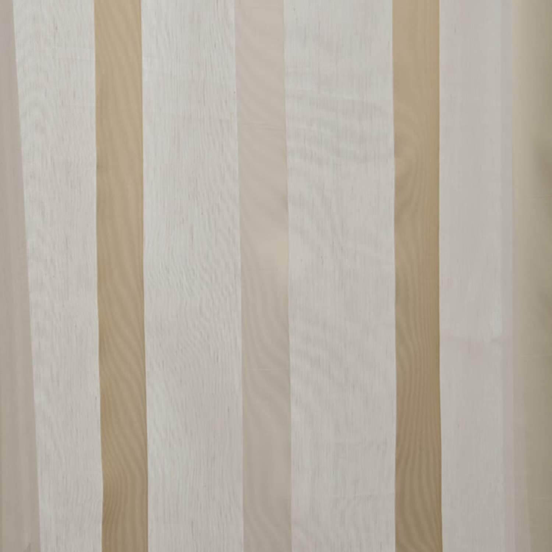 Carlton Creme Linen Blend Stripe Sheer Swatch