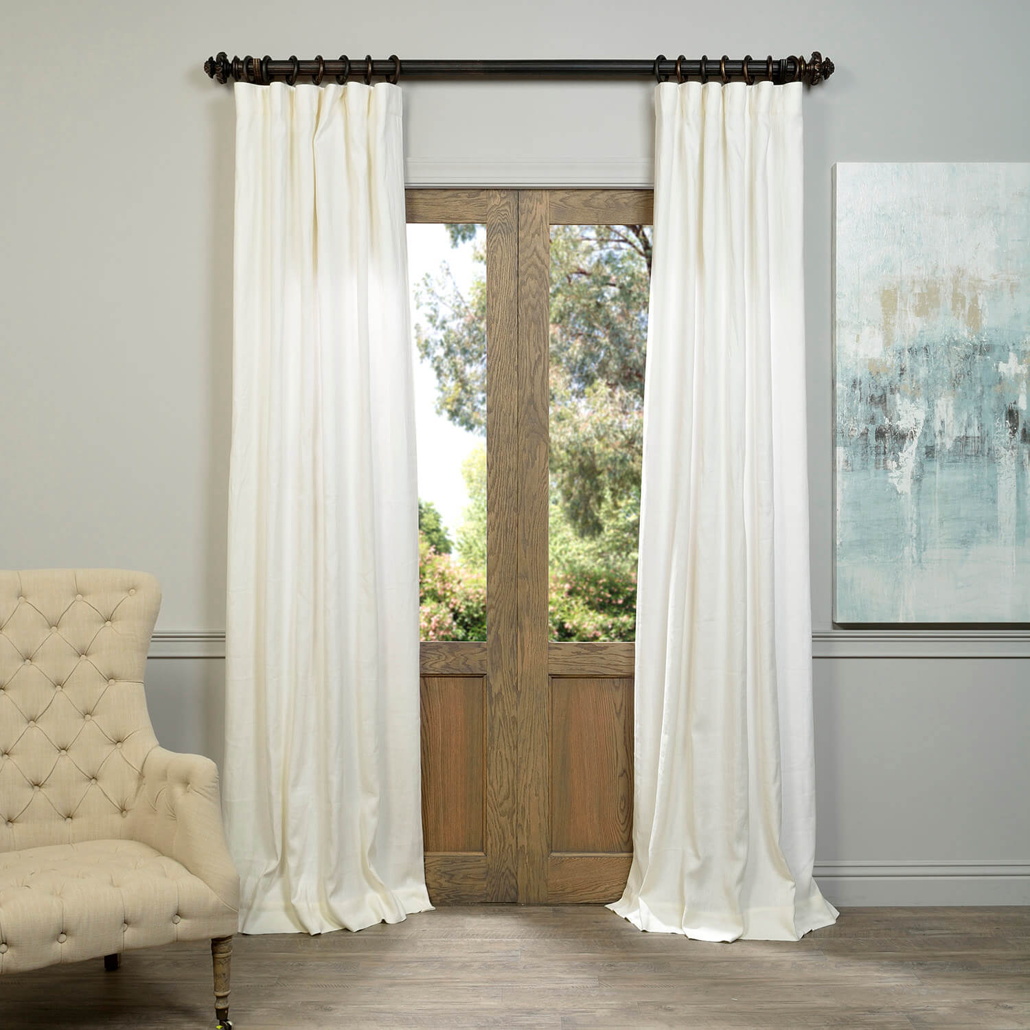 Ivory French Linen Curtain