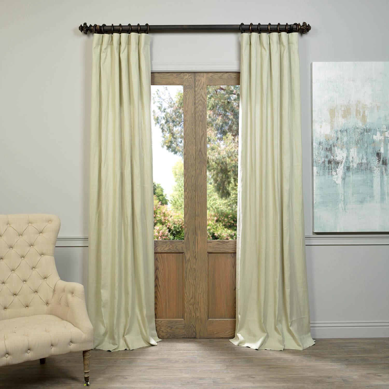 Khaki French Linen Curtain