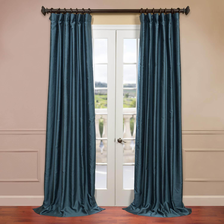 Fiji Yarn Dyed Faux Dupioni Silk Curtain
