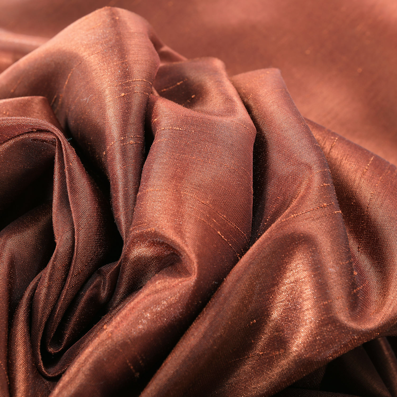 Burnt Orange Vintage Textured Faux Dupioni Silk Swatch