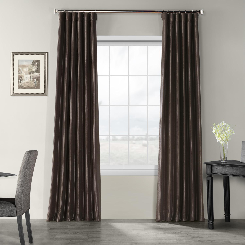 Urban Grey Vintage Textured Faux Dupioni Silk Curtain