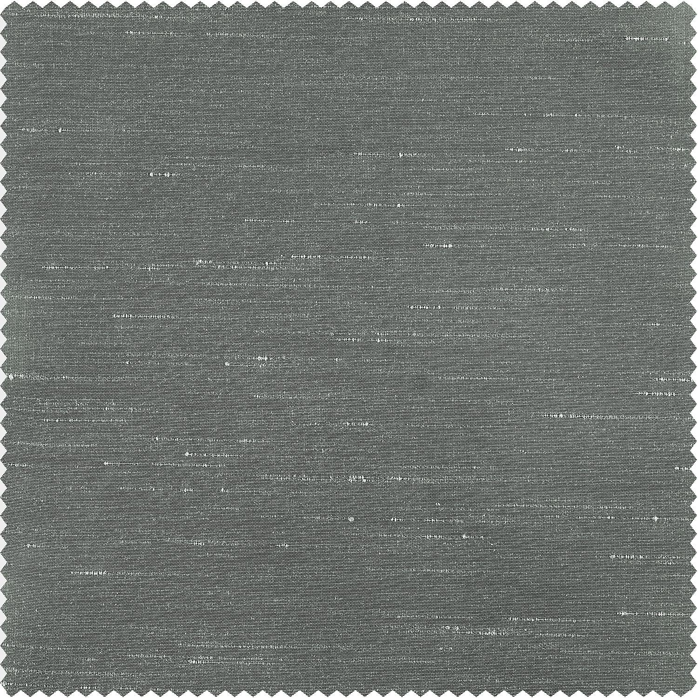 Silver Faux Textured Dupioni Silk Swatch