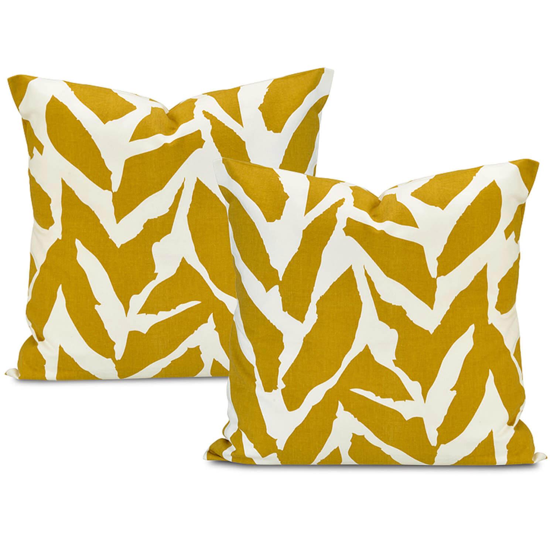 Sahara Desert Printed Cotton Cushion Cover (Pair)