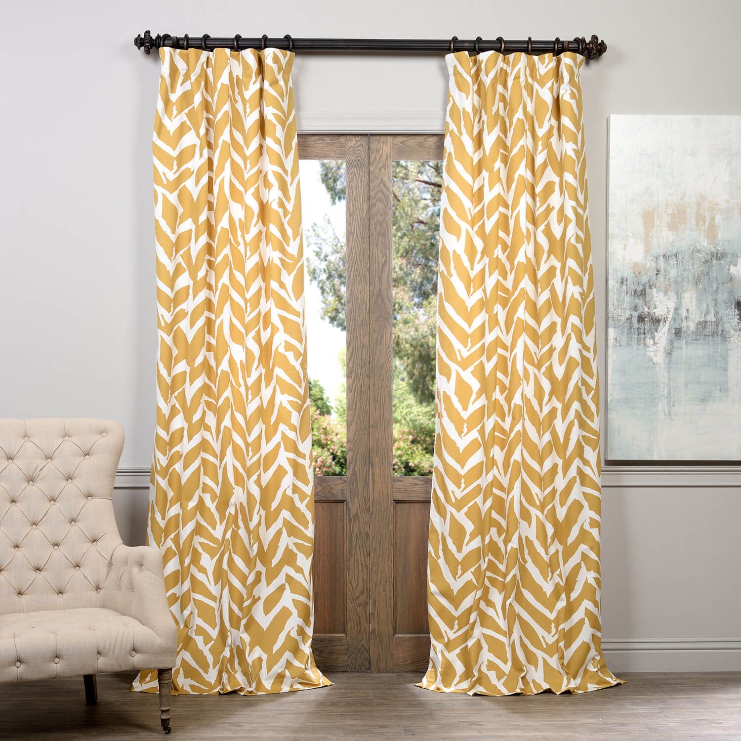 Sahara Desert Printed Cotton Curtain