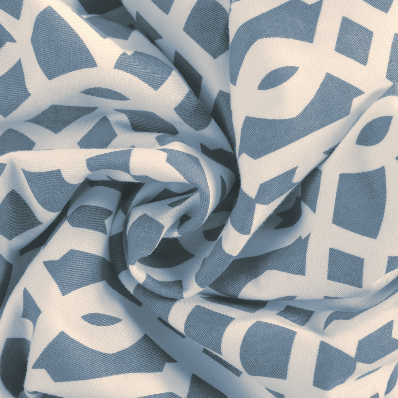 Nairobi Denim Printed Cotton Swatch