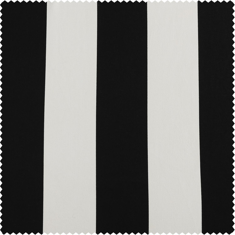 Cabana Black Printed Cotton Swatch