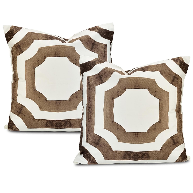 Mecca Printed Cotton Cushion Cover (Pair)