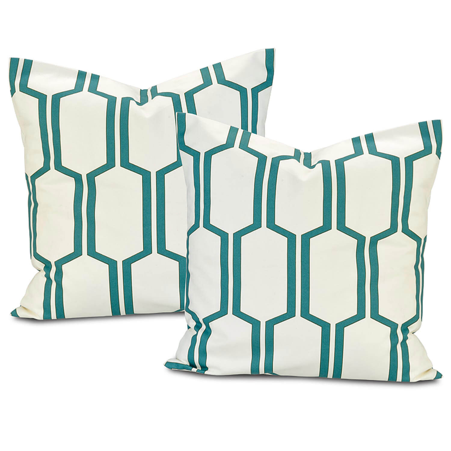 Tide Sands  Printed Cotton Cushion Cover (Pair)