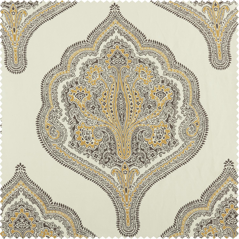 Arabesque Tan Printed Cotton Twill Swatch