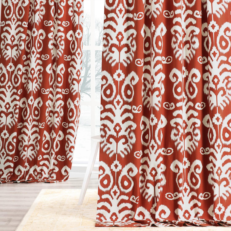 Sri Lanka Rust Printed Cotton Twill Curtain