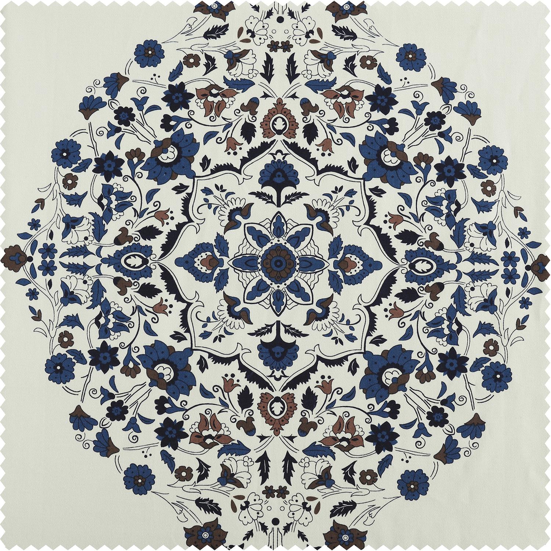 Kerala Blue Printed Cotton Twill Swatch