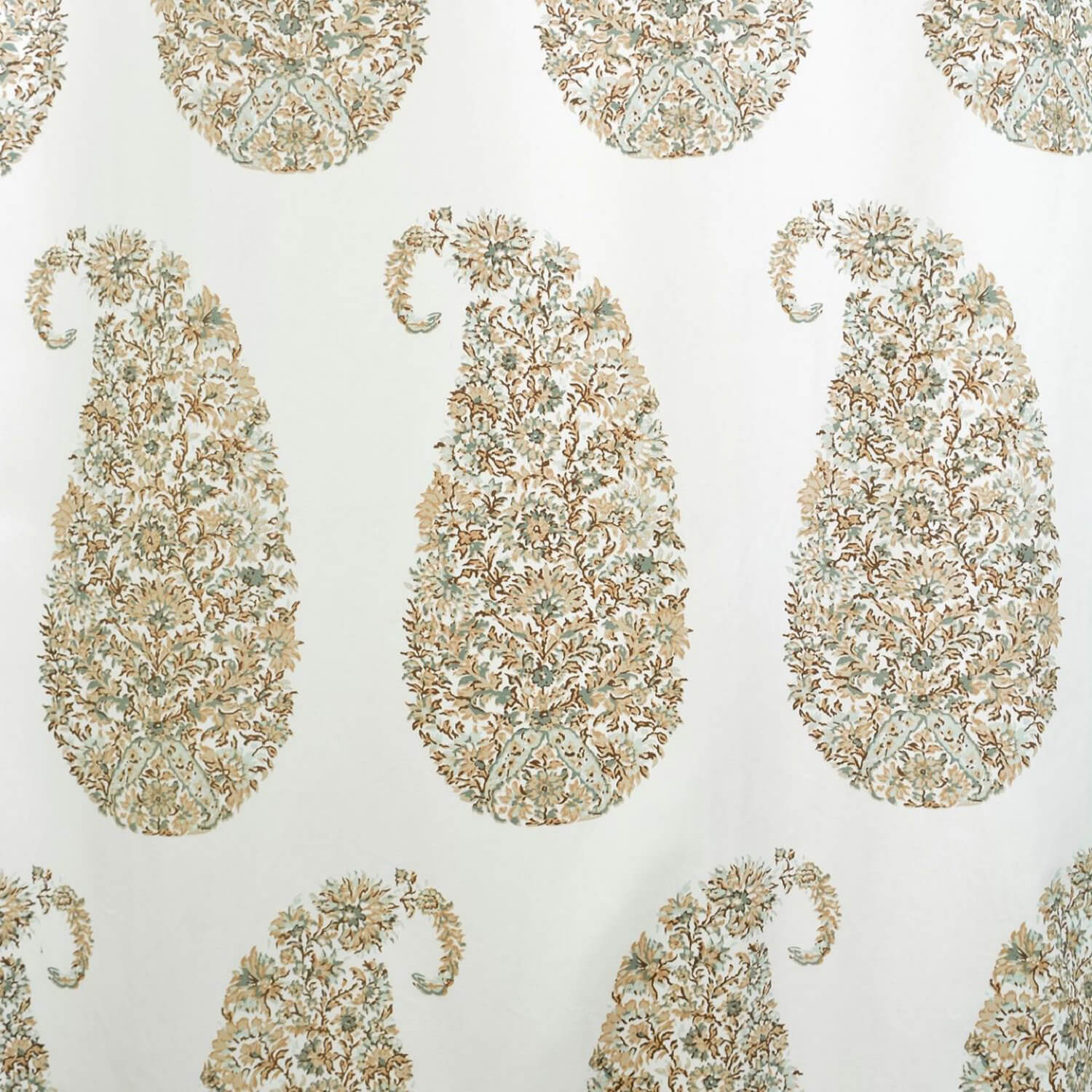 Paisley Park Tan Printed Cotton Twill Swatch