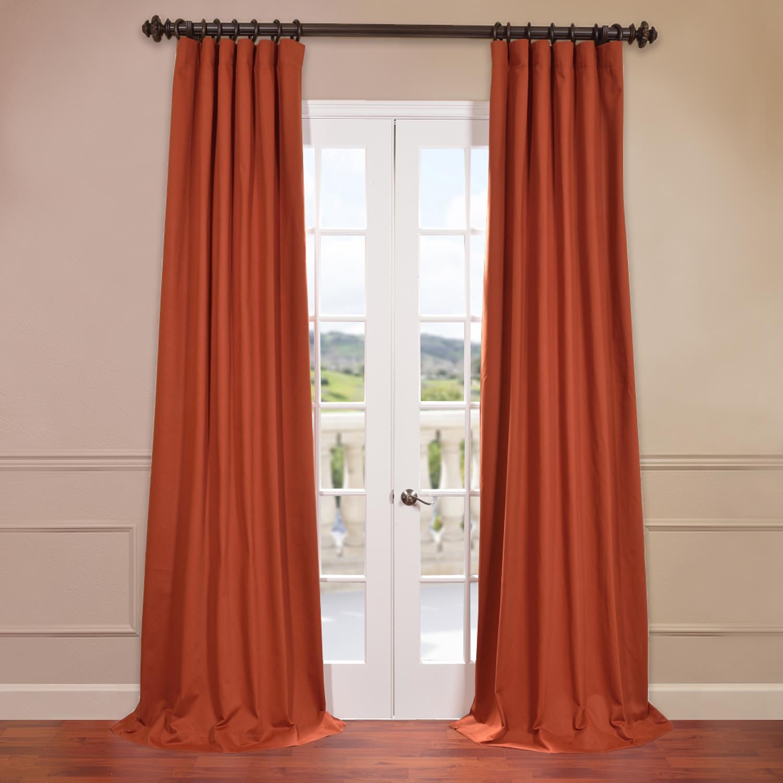 Bombay Rust Cotton Twill Curtain