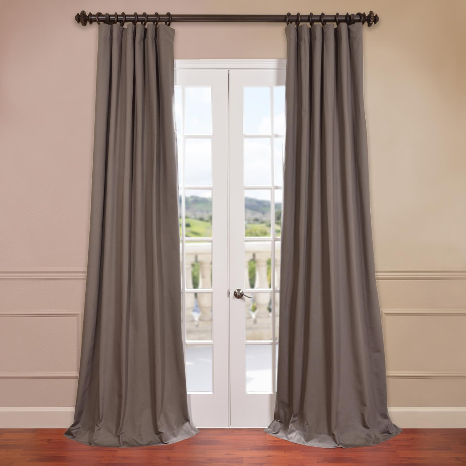 River Rock Grey Cotton Twill Curtain