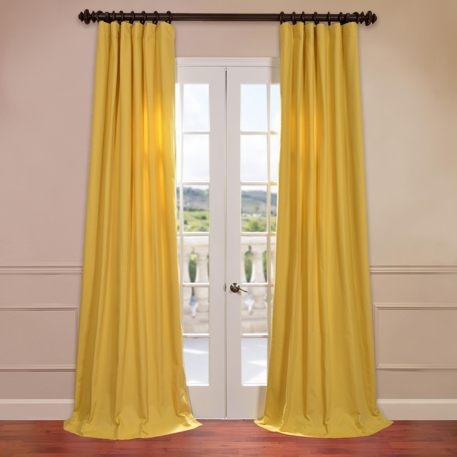 Mustard Yellow Cotton Twill Curtain