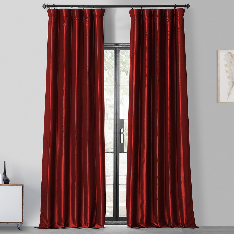 Syrah Blackout Faux Silk Taffeta Curtain