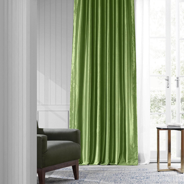 Fern Faux Silk Taffeta Curtain