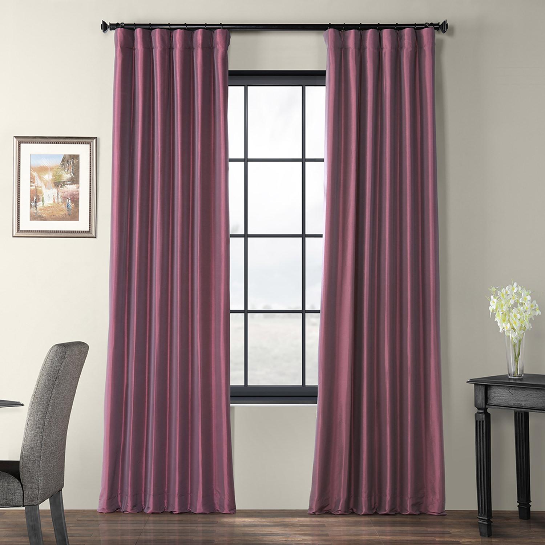 Dahlia Faux Silk Taffeta Curtain