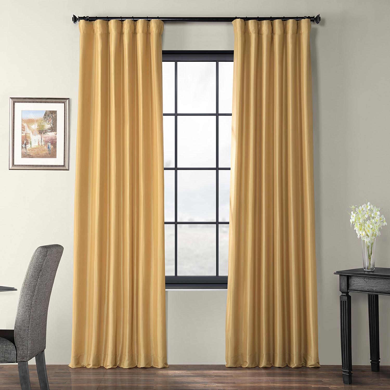 Honey Faux Silk Taffeta Curtain