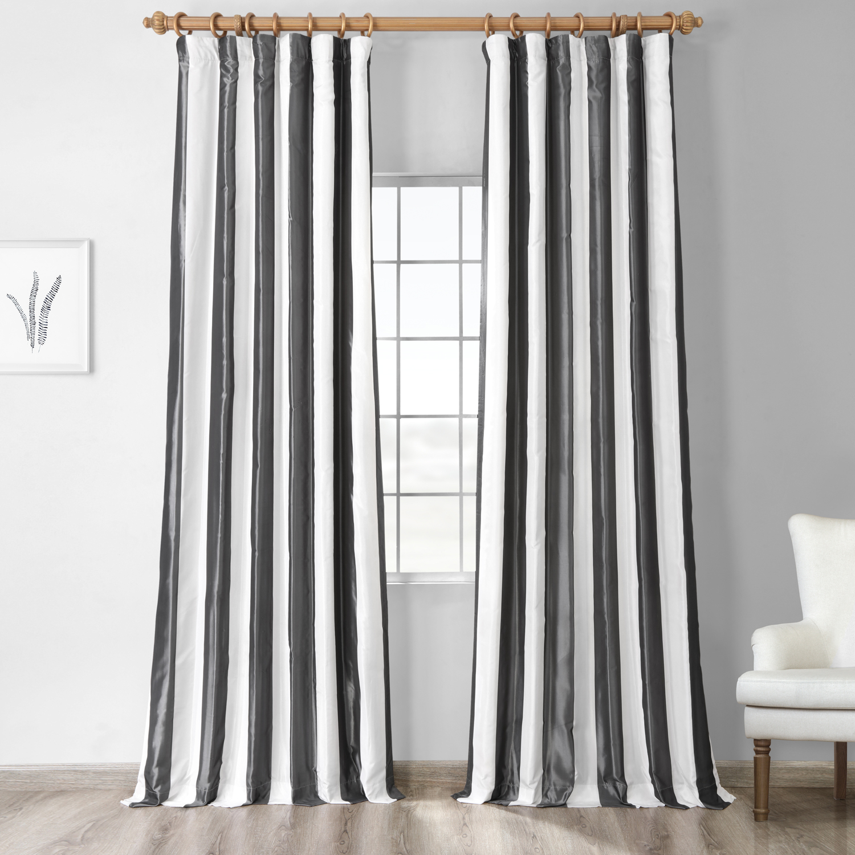 Presidio Faux Silk Taffeta Stripe Curtain