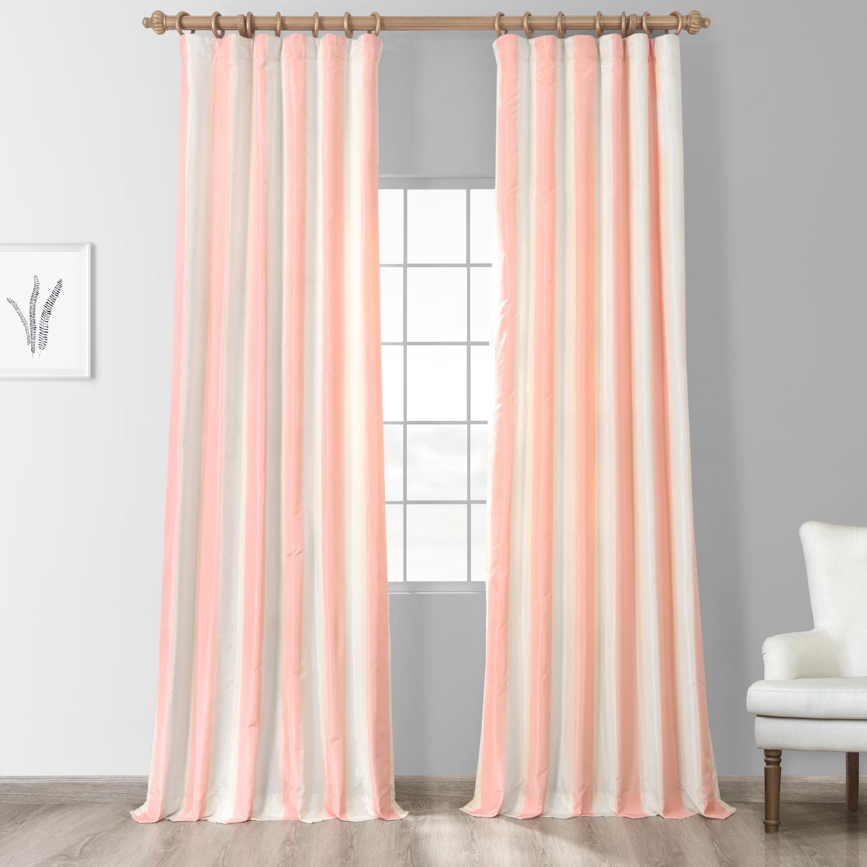 Annabelle Faux Silk Taffeta Stripe Curtain