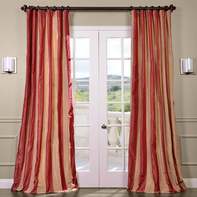 Rialto Faux Silk Taffeta Stripe Curtain