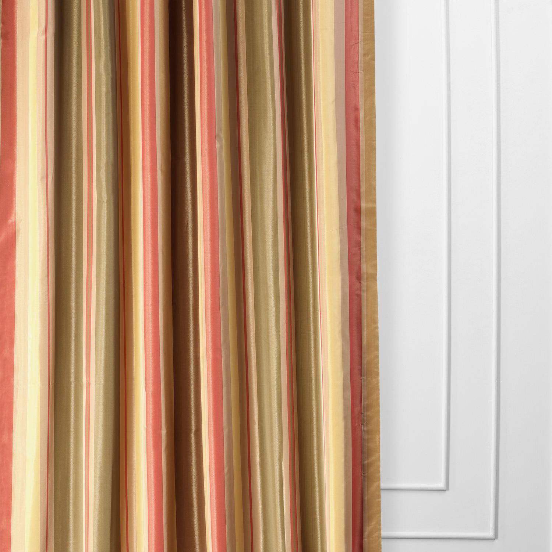 Mirage Faux Silk Taffeta Stripe Curtain