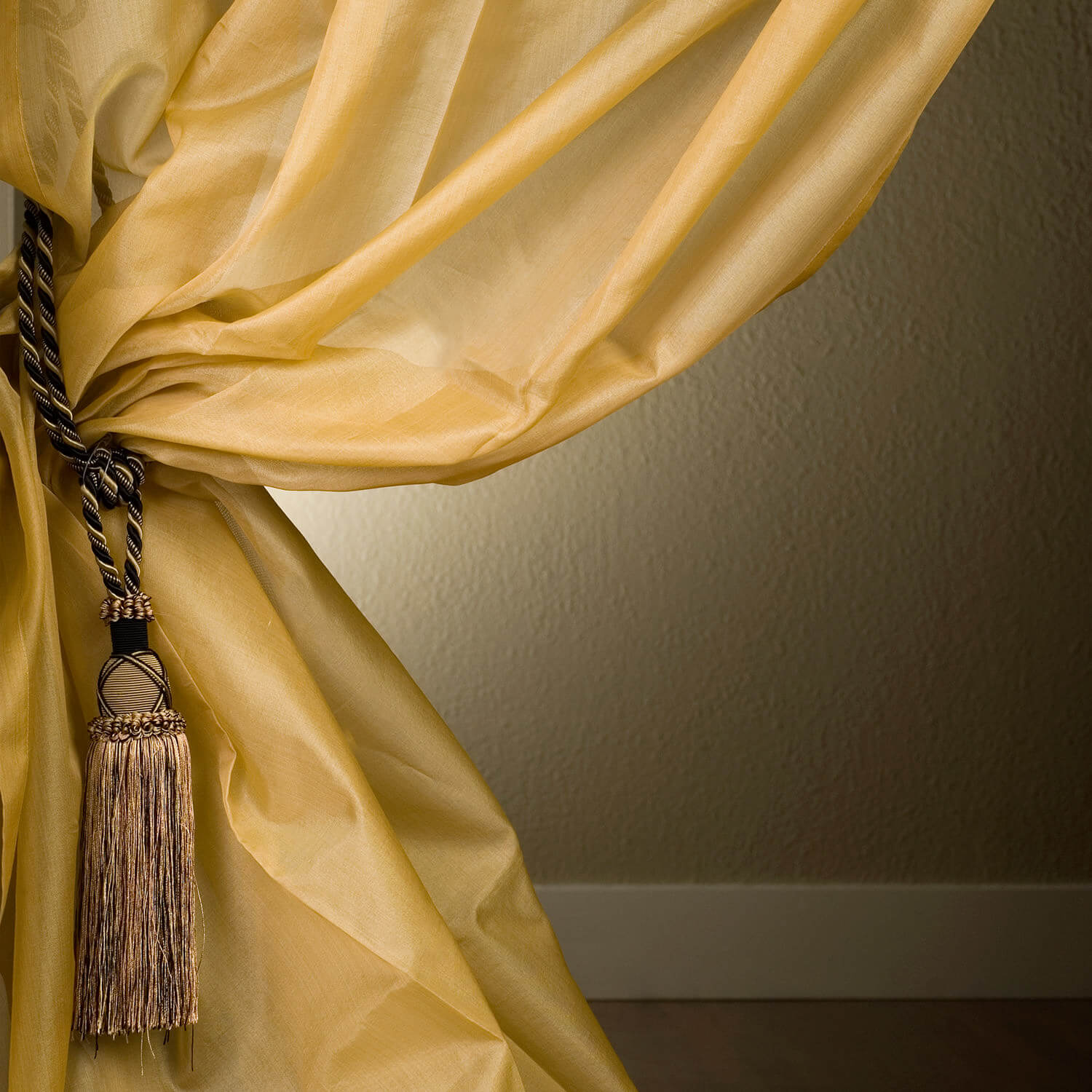 Ivory Silk Organza Sheer Curtain