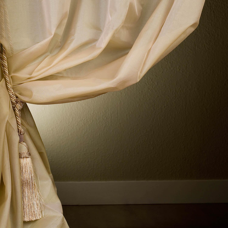 Cream Silk Organza Sheer Curtain