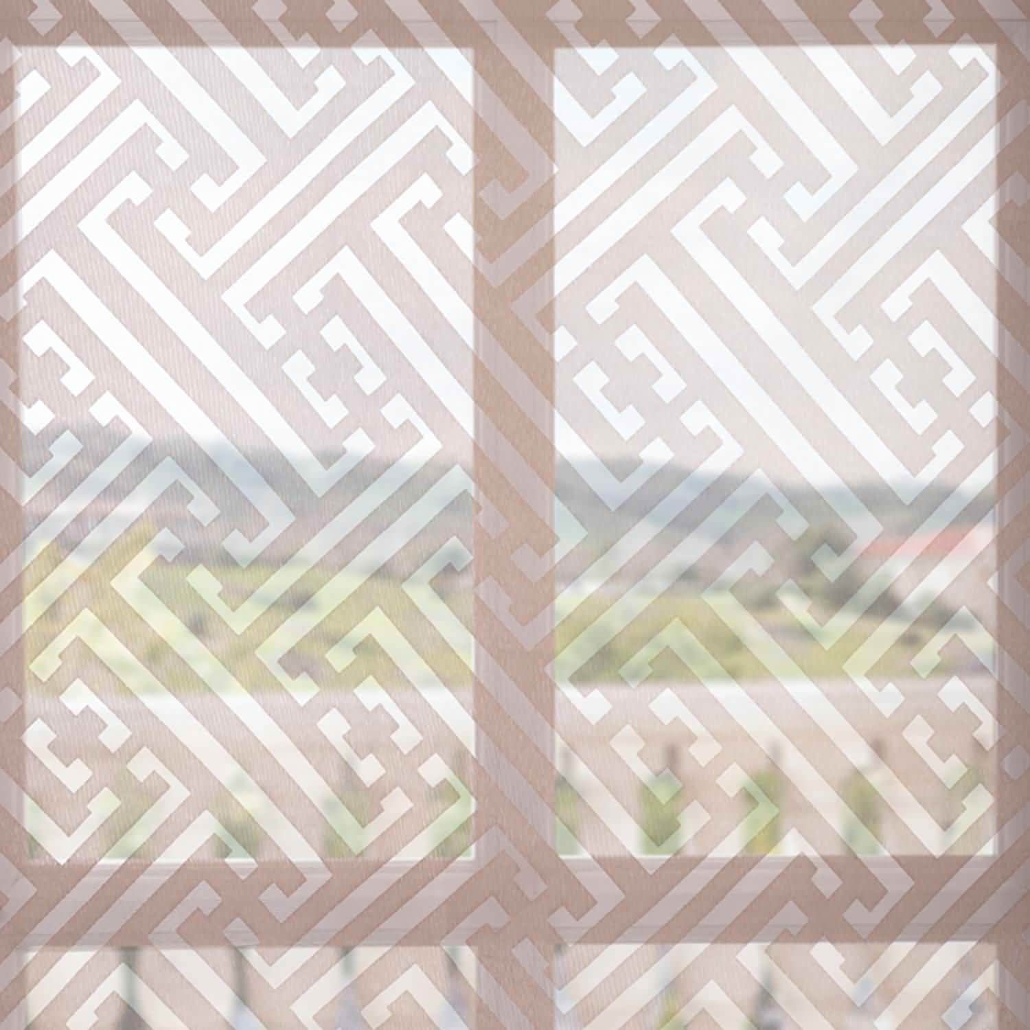 Zara Taupe Patterned Sheer Swatch
