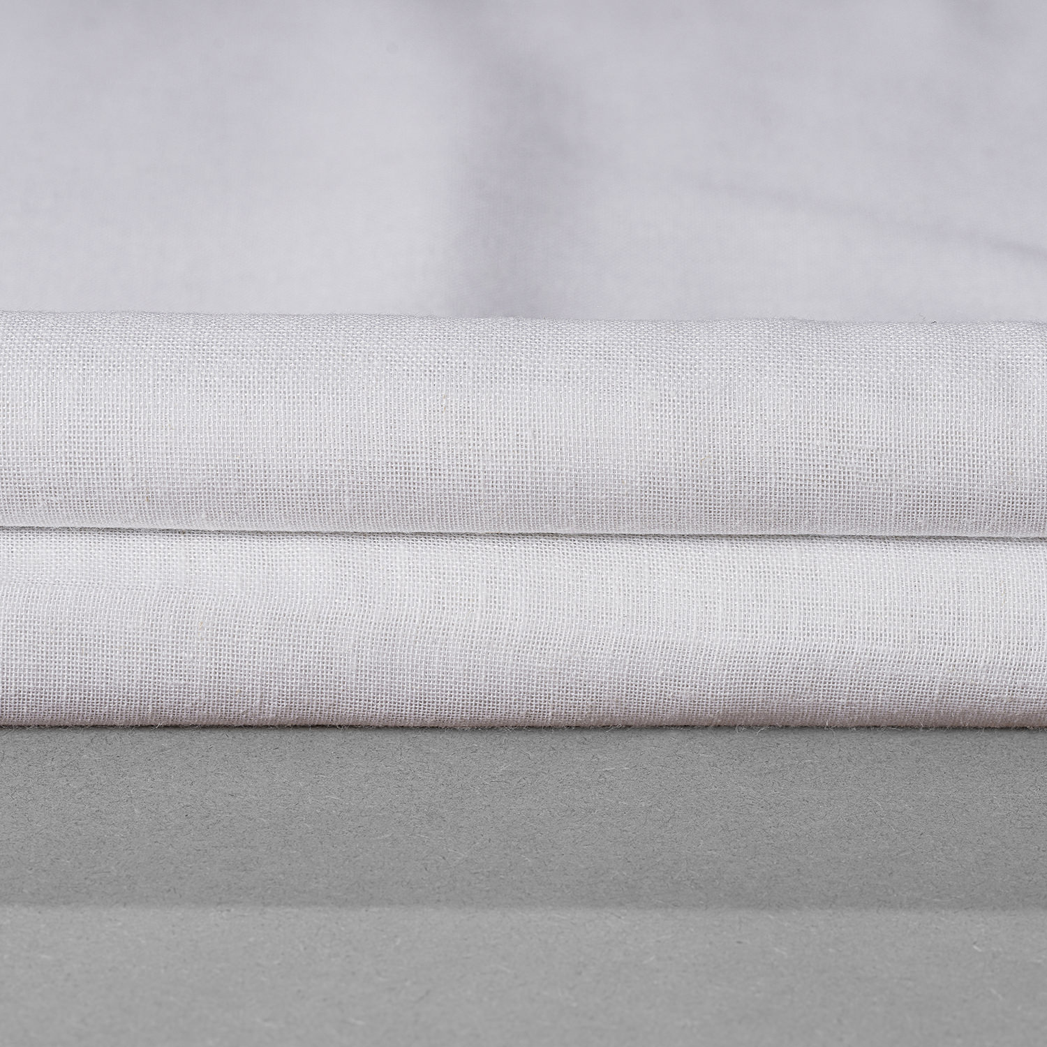 White Orchid Faux Linen Sheer Swatch