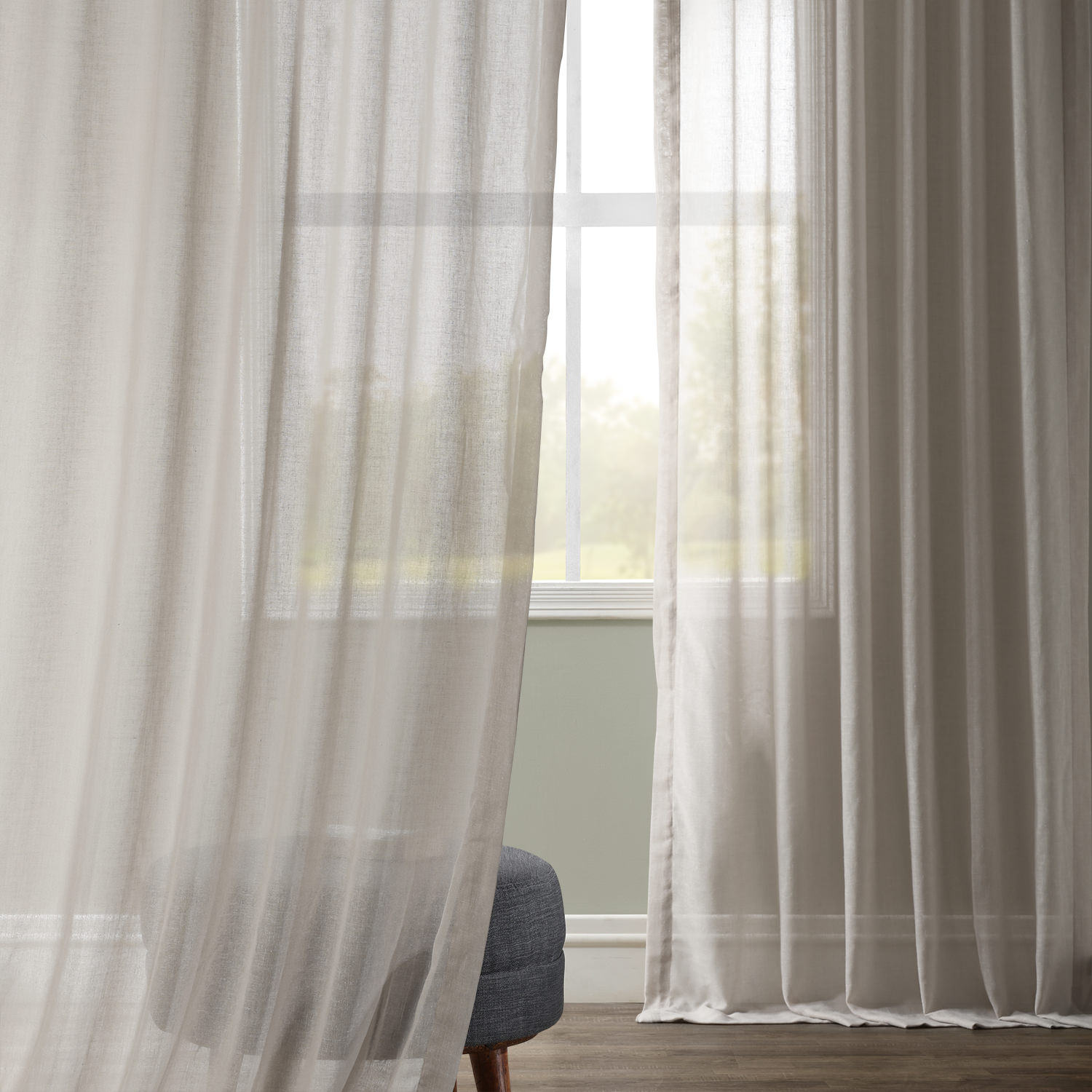 Tumbleweed Faux Linen Sheer Curtain