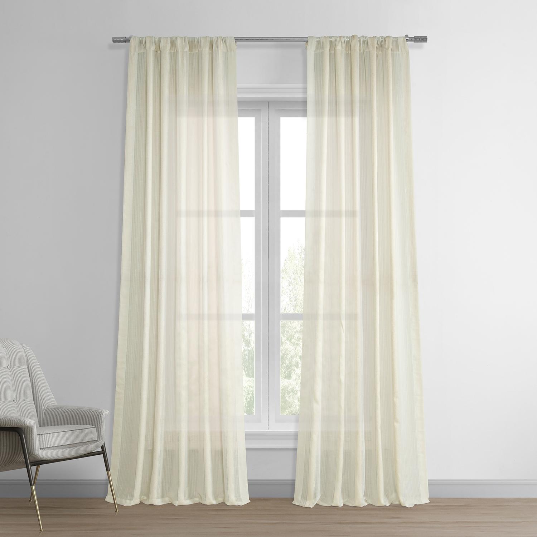 Signature Birch French Linen Sheer Curtain