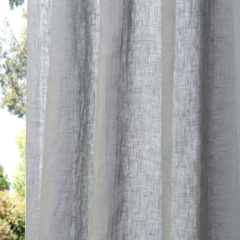 Grey Linen Sheer Swatch