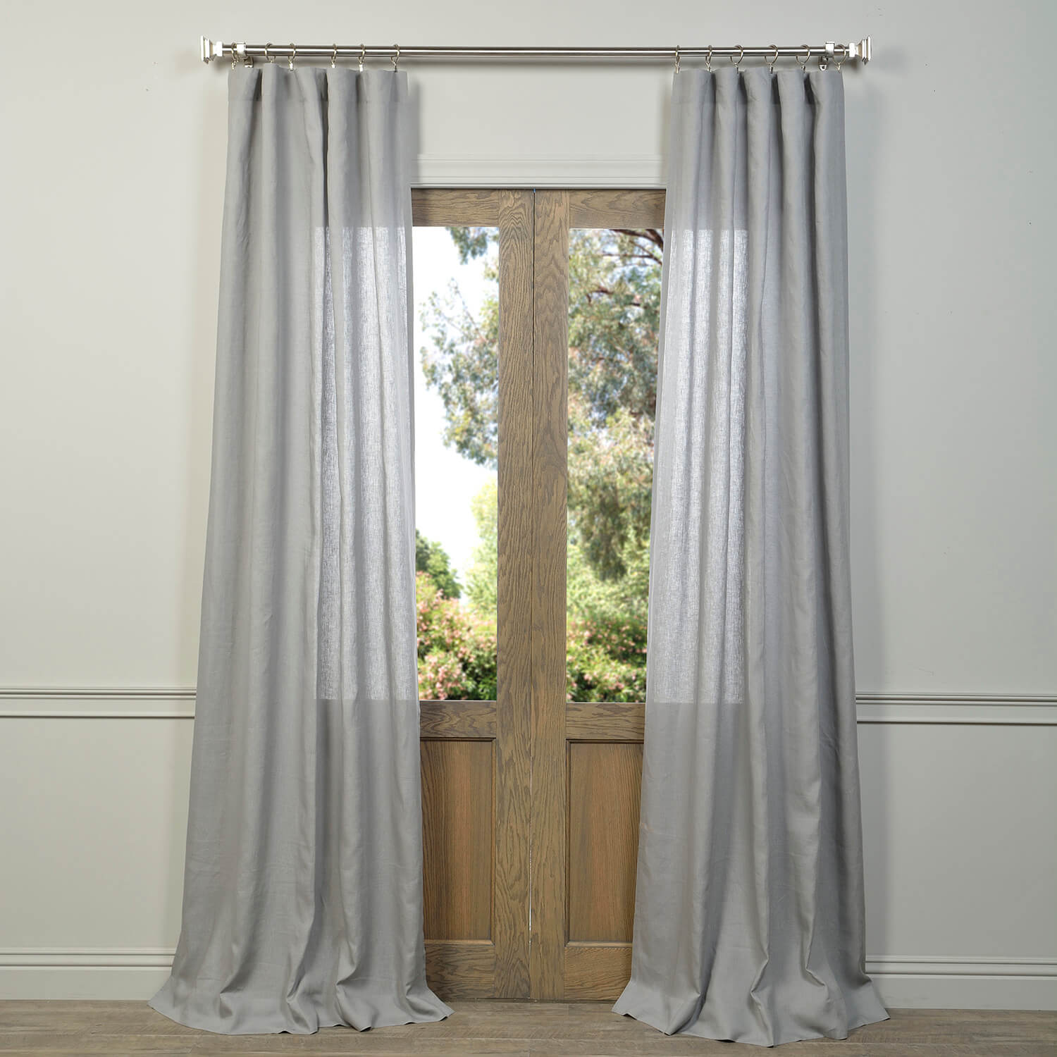 Signature Grey Linen Sheer Curtain
