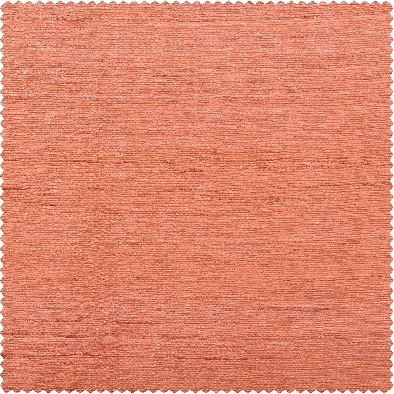 Terracotta Raw Silk Swatch