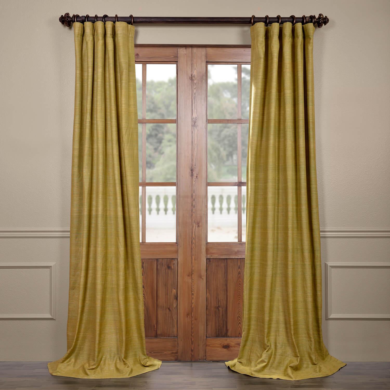 Spanish Moss Raw Silk Curtain